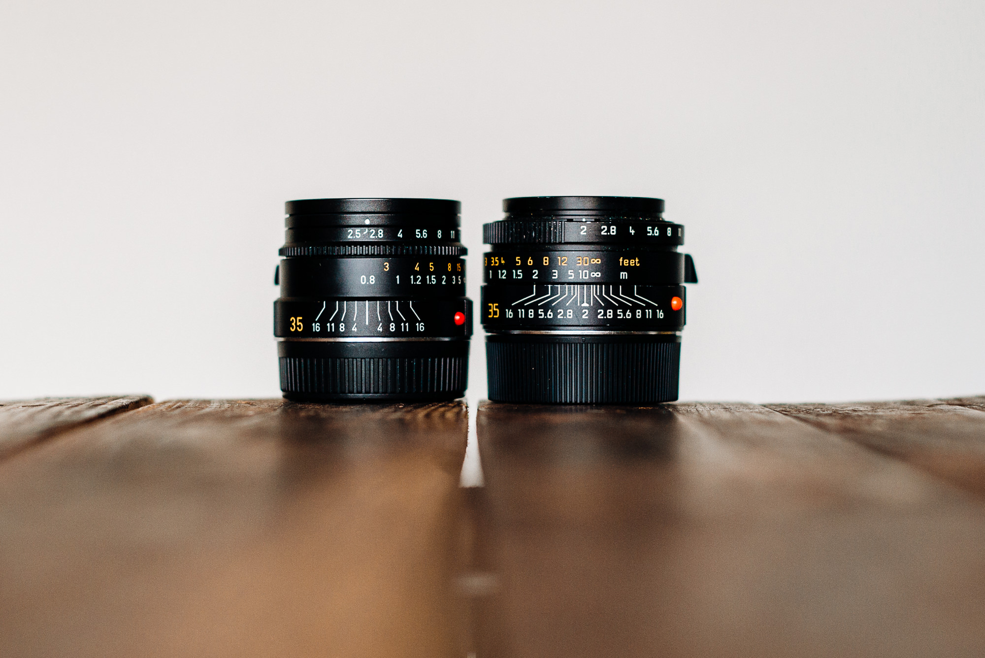 leica 35mm summicron and summarit lenses without hoods